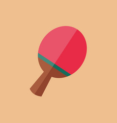 simple flat style ping pong racket bat sport vector image