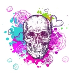 Skull Cow Boho Composition vector