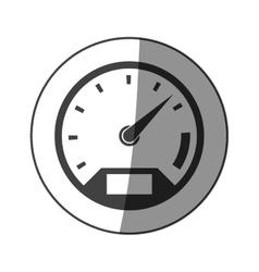 Sticker monochrome speedometer with half shaded vector