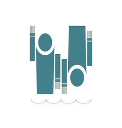 Swimmers Icon vector image