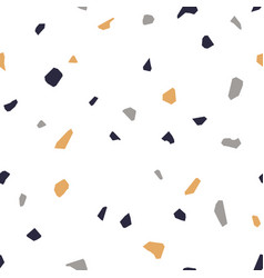 terrazzo flooring seamless pattern vector image