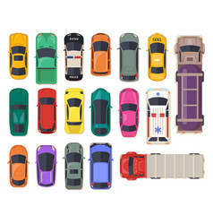 top view on car auto transport police vehicle vector image
