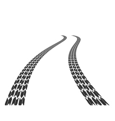 Traces of tires on road vector image