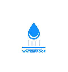 Waterproof icon on white vector