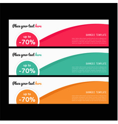 Web banners templates horizontal web bann vector