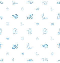 Young icons pattern seamless white background vector