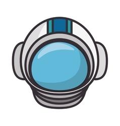 astronaut helmet isolated icon vector image