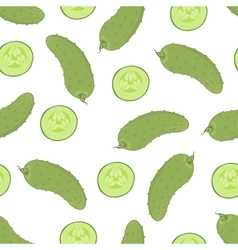 cucumber seamless pattern vector image vector image
