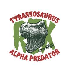 Dinosaur head logo emblem trex monster vector