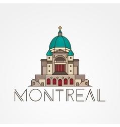 Saint Joseph Oratory in Montreal Canada Modern vector image