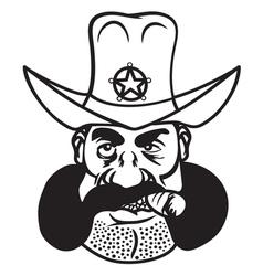 sheriff cowboy2 resize vector image
