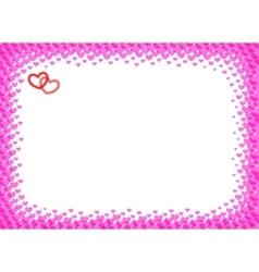 Heart frame for foto halftone vector image vector image