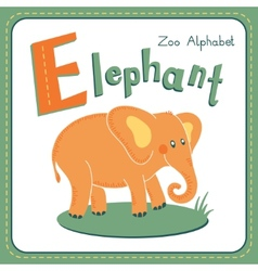Letter E - Elephant vector image vector image