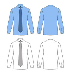 long short sleeved mans buttoned shirt vector image