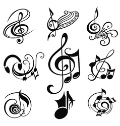 Musical Design Elements Set vector image