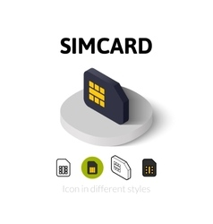 Simcard icon in different style vector