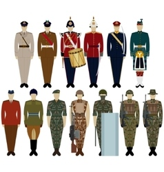Uniforms of the British Army vector image