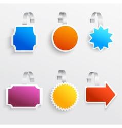 Color wobbler set vector image vector image