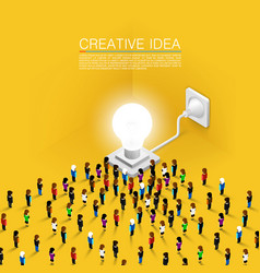crowd people committed idea vector image vector image