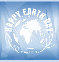 earth day poster design vector image vector image