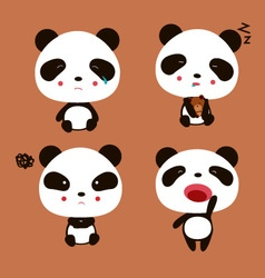 Emotional Panda vector image vector image