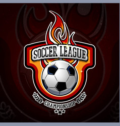 fiery football colorful logotype vector image vector image