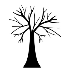 icon dry tree vector image