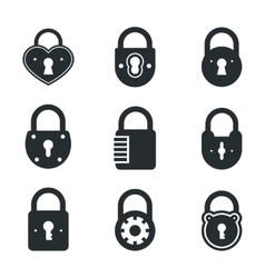 Lock icons signs or symbol padlock icon vector image vector image