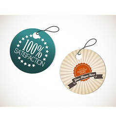 Old round retro vintage grunge tags vector image