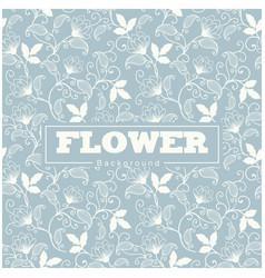 thai design flower blue background pattern vector image