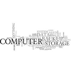 what you should know about your data backup vector image vector image