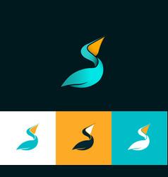 pelican logo vector image vector image