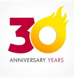 30 anniversary flame logo vector