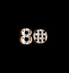 80 years anniversary celebration elegant black vector