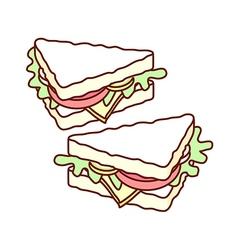 A pair of sandwich vector