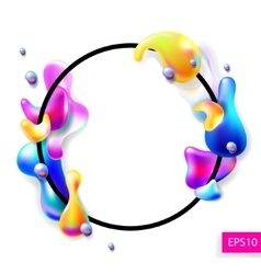 Abstract bright colorful plasma drops shapes with vector