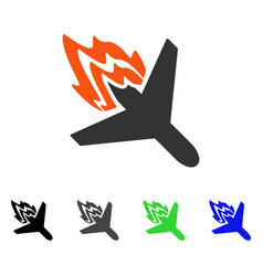 Air crash flat icon vector