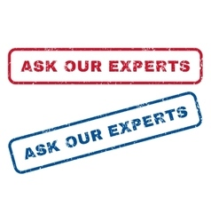 Ask Our Experts Rubber Stamps vector