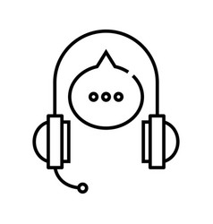audio speech line icon concept sign outline vector image