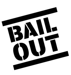 Bail out sticker vector