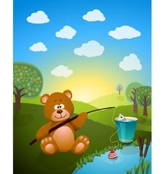 bear cartoon vector image