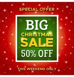 Big Christmas Sale promo banner template vector image
