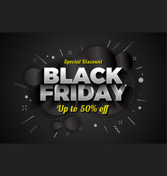 black friday sale special discount background vector image
