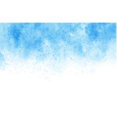 blue watercolor wash splash background vector image