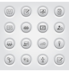 Business Coaching Icon Set Online Learning vector