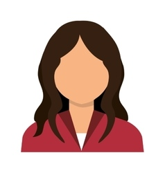 Business woman profile with red blouse cartoon vector image