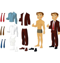 Businessman doll vector