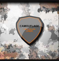 Camouflage grey background vector