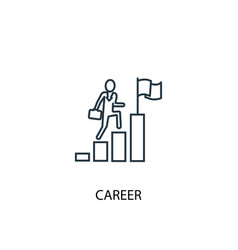 career concept line icon simple element vector image