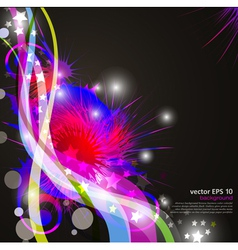 celebration background with flowers vector image